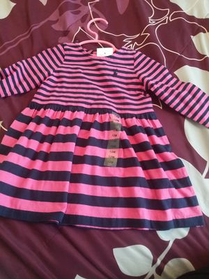 New Ralph Lauren Hot pink and navy blue dress size 12 months for Sale in San Jacinto, CA