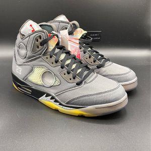 Nike Air Jordan 5 Retro Off-White Black Size 10 for Sale in Mount Laurel Township, NJ