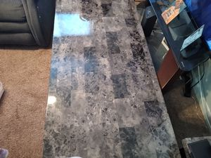 Black marble coffee table and two matching end tables for Sale in Newport News, VA