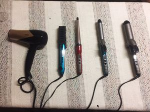 Phillys hair dryer and Conair curling iron, straightener for Sale in Quincy, MA