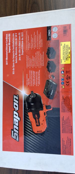 """Snap On 18 V 1/2"""" Drive MonsterLithium Brushless Cordless Impact Wrench KIT (((( $700 FIRM )))) ❗️Brand New ❗️ for Sale in Riverside, CA"""