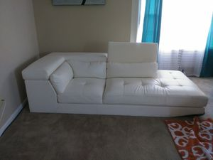 Color: Cream; Fabric: Leather for Sale in Portsmouth, VA