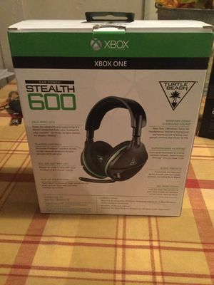 Turtle beach ear force stealth 600 surround sound gaming headset Xbox one wireless. for Sale in Pinellas Park, FL
