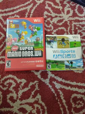New super Mario Bros and Wii sports for Sale in Austin, TX