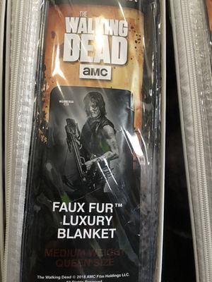 Faux fur luxury blankets size queen. All Walking Dead blankets available. Located at 3121 w chain of rocks road, Granite City. Route 66 Avon Store for Sale in Granite City, IL