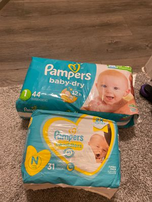 Pampers diapers for Sale in Dallas, TX