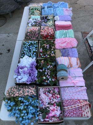 Encajes bordados beads lace party decorations recuerdos flowers arts and crafts for Sale in Culver City, CA