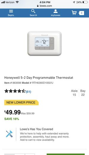 Thermostat for Sale in Fuquay Varina, NC