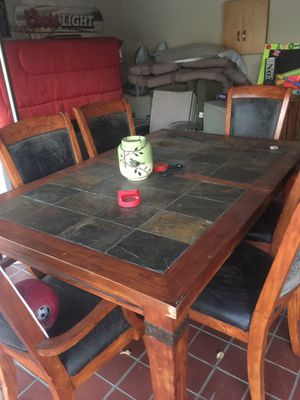 Rustic tile and wood table for Sale in Pomona, CA