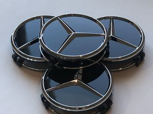 "Set of 4 Mercedes Black Center Caps 75mm (2.95"") AMG wheels Rims cap for Sale in Scottsdale, AZ"