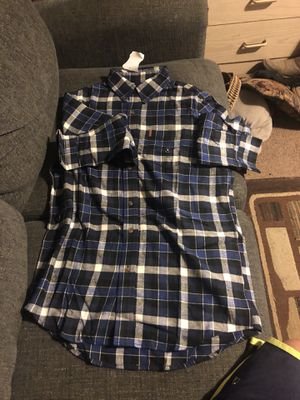 Navy blue flannel long sleeve for Sale in Fresno, CA