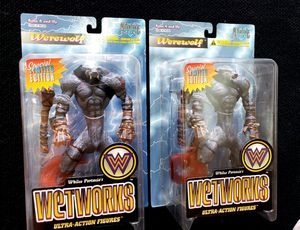 McFarlanes Toys Wetworks, Limited Edition Silver Warewolf Figures, $30 Each for Sale in Norwalk, CA