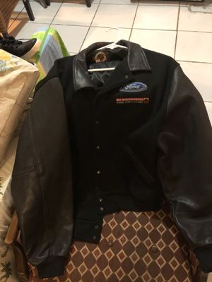 Vintage ford leather sleeves jacket good condition high quality no flaws size xl for Sale in Miami, FL