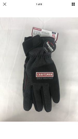 BRAND NEW Craftsman Cold Weather Wind Resistant Gloves XL 70011 for Sale in Peoria, IL