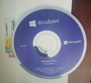 Microsoft Windows 10 Pro 64bit DVD+Key Code Brand New Sealed Original Package for Sale in Chino, CA