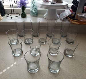 Glass Drinking Cups - Large & Small for Sale in North Las Vegas, NV