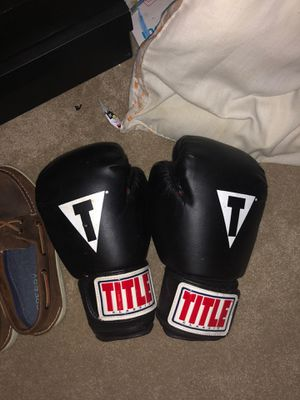 Large title boxing gloves for Sale in St. Peters, MO