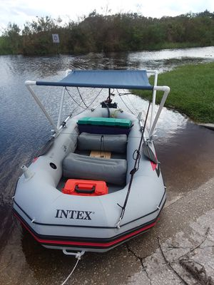 Mariner 4 rigid inflatable boat w/ 42-lb. Trolling motor! for Sale in Kissimmee, FL