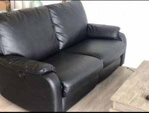 Black IKEA TOMBACK Sofa with Adjustable Electronic Recliner for Sale in Kirkland, WA