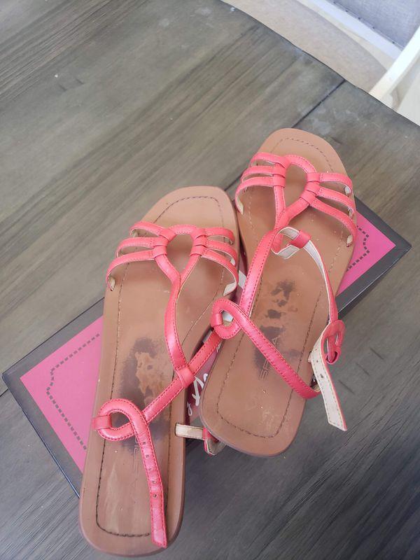 SPIGA red leather sandals