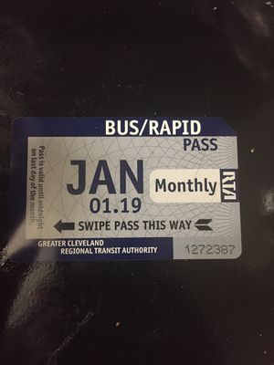Monthly bus Ticket for Sale in Cleveland, OH
