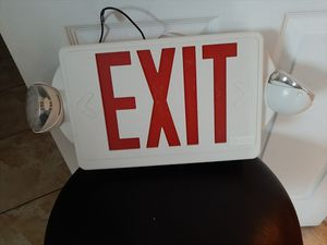 Exit sign with lights for Sale in Princeton, FL