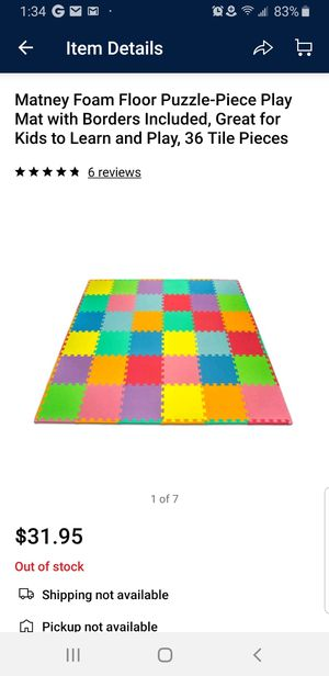 5 Matney Puzzle Mat Sets (Great for Daycares and Preschools) for Sale in Woodbridge, VA