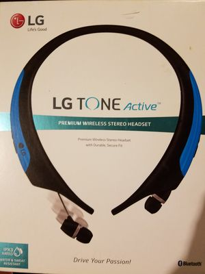 LG TONE Active HBS-850 Headset - Earphones with mic - in-ear - around the neck design - wireless - Bluetooth for Sale in Dearborn, MI
