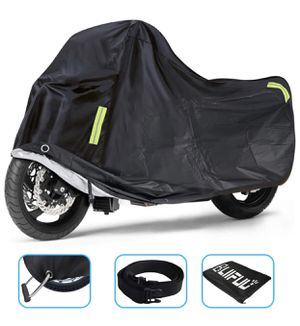 Motorcycle Cover Upgraded for Outdoor Protection All Weather All Season Waterproof/Dustproof Universal for Harley Davidson Honda Suzuki Kawasaki Yama for Sale in San Gabriel, CA