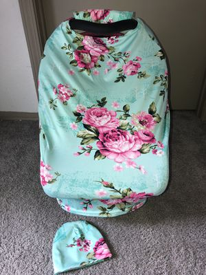 Sky flower nursing and car seat canopy like new for Sale in Austin, TX