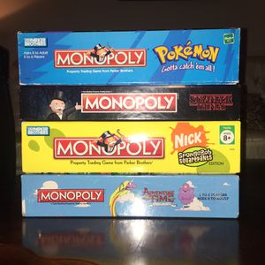Assorted Monopoly Board Games for Sale in Romeoville, IL