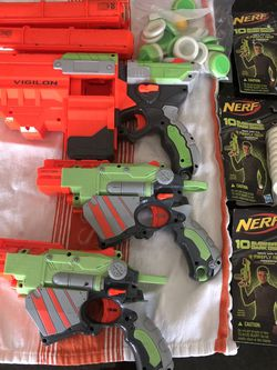Nerf Guns + 3 Unopened Packages of Nerf Gun Discs for Sale in Seattle,  WA