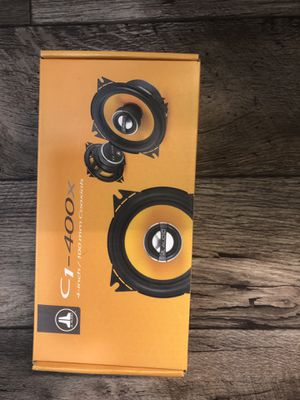 NEW NEVER USED JL Audio C1-400 x 4 2-Way Coaxial Car Audio Speakers 90$ for Sale in Gresham, OR