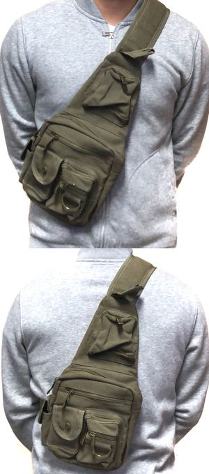 NEW! Canvas Side Bag Crossbody bag chest bag sling pouch camping hiking day pack edc backpack travel bag for Sale in Carson, CA