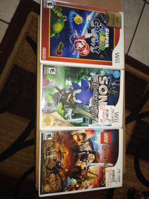 3 Nintendo Wii games for Sale in Long Beach, CA
