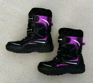 Khombu kids children's 2M snow walker boots black/pink/purple for Sale in San Mateo, CA