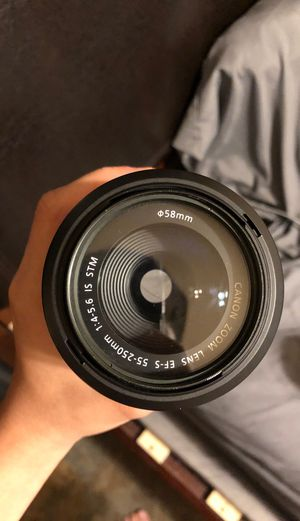Canon Lens 55-250mm STM for Sale in Garland, TX