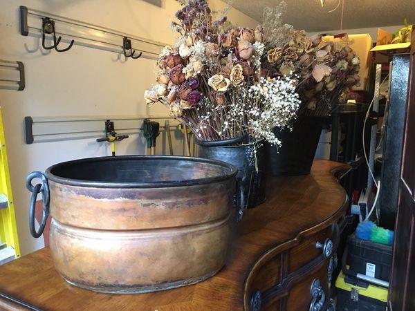Patina Copper Pot