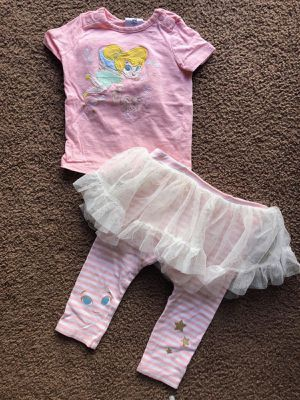 Tinkerbell toddler girl outfit, size 12-18 months for Sale in Los Angeles, CA