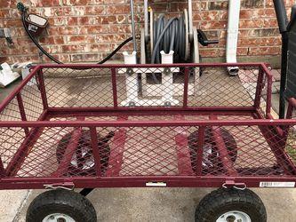Steel Utility Wagon Cart 400-Lb. Capacity, 34in.L x 18in.W for Sale in Rowlett,  TX