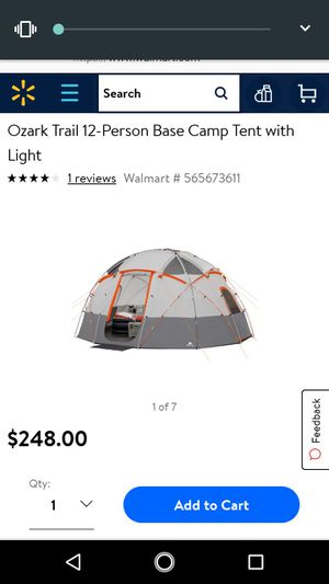 Bran new never opened Ozark trail 12 man tent for Sale in Des Moines, IA