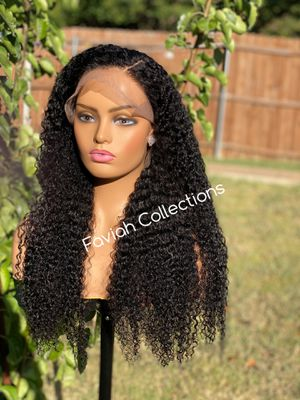 26' Kinky Curly Frontal Wig Full with Adjustable Band for Sale in Arlington, TX