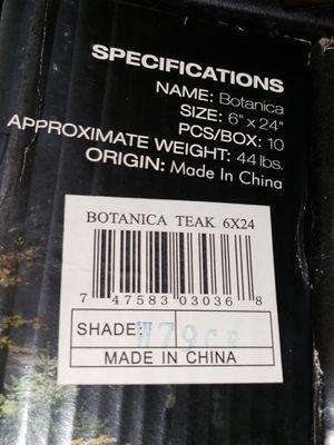 Bontanica teak 6 x 24 wood grain tiles for Sale in Fontana, CA