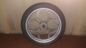 18 inch BMW motorcycle rim and tire for Sale in Glendale, AZ