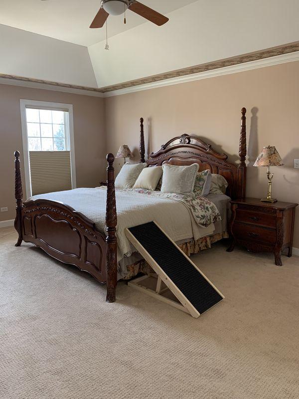 Cherry bedroom set, with dresser, 2 nightstands, armoire