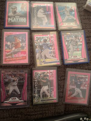 Lot off 9 holo baseball ⚾️ cards in mint condition for Sale in North Las Vegas, NV