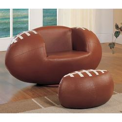 Football Swivel function 2-Piece Chair and Ottoman Set for Sale in Redmond,  WA