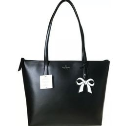 Kate Spade Cassy Large Tote Shoulder Bag Leather Black 100% Authentic for Sale in Gaithersburg,  MD