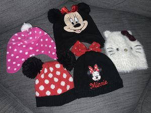 Winter beanies Disney Minnie, hello kitty toddler size for Sale in Perris, CA