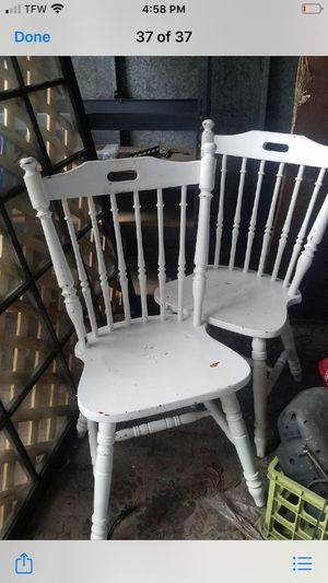 Two white chairs for Sale in Gulfport, MS